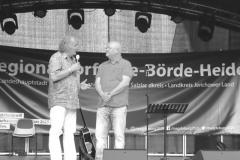 Burkhard Peine im Gespräch auf der Bühne